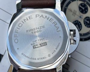 PAM795 Luminor Stainless Steel 8 Days Power Reserve Black Dial 44 mm