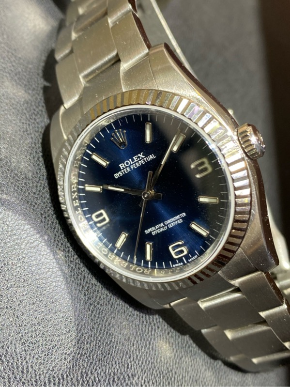 Rolex Oyster Perpetual Blue Dial 116034 Box and Card (2013)