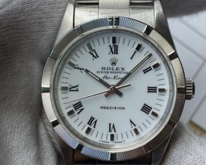 Rolex Air-king 14010 Mens Automatic Watch Silver Dial Stainless Steel 34mm