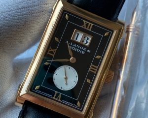 A Lange & Sohne Cabaret Big Date Black Dial 18K Rose Gold 107.031