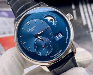 Glashutte Original PanoMaticLunar Blue Dial  Steel 1-90-02-46-32-30
