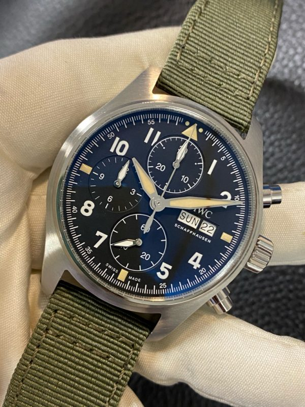 IWC Pilot Spitfire Chronograph 41mm Black Dial Automatic Steel IW387901