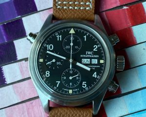 Doppel Chronograph Spitfire Black Dial IW3713