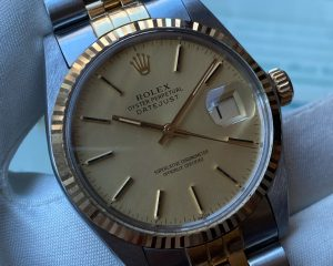 Rolex DateJust Gold / Steel Gold Dial 16013