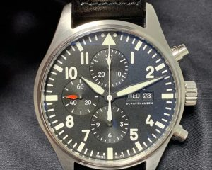 IWC Pilot Chronograph Black Dial 43mm IW377709 Box & Papers