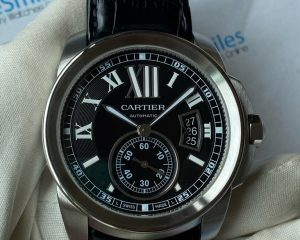 Calibre De Cartier W7100014 Black Dial Steel 3389