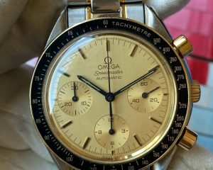 Speedmaster SS/18K Yellow Gold Champagne Dial Automatic 3310.10