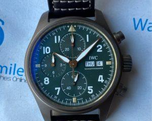 IWC Pilot Spitfire Chronograph Green Dial Bronze IW387902