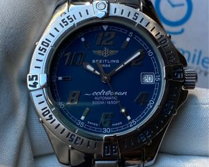 Breitling Colt Ocean A17050 Blue Dial Stainless Steel Date Automatic