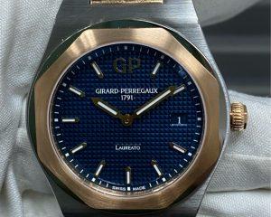 Girard-Perregaux Laureato Quartz Steel/Rose Gold Blue Dial 80189-56-432-56A