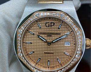 Girard-Perregaux Laureato Quartz Steel/Rose Gold Diamond Bezel