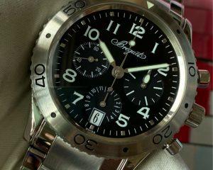 BreguetType XX Transatlantique 3820ST Chronograph Black Dial Bracelet Model