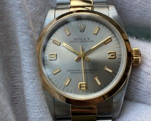 Rolex Oyster Perpetual 18K/Steel Grey Dial 31mm