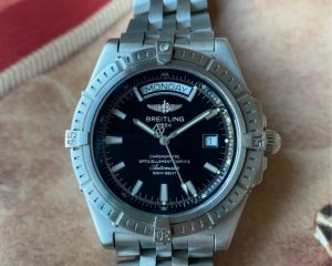 Breitling Headwind Day Date Steel Black Dial Automatic A45355