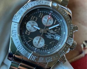 BREITLING Super Avenger II Chronograph Tungsten Grey Dial A13381