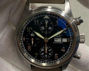 IWC Pilot Spitfire Automatic Chronograph 370 Black Dial