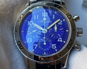 Breguet Type XX 3807ST Aeronavale Flyback Chronograph Blue Dial