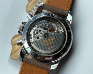 Glashütte Original Navigator Chronograph Automatic Matt Cream Dial KAL Gub 10-60