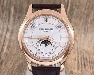 Patek Philippe Annual Calendar Moon Phase 5205R-001 White Dial