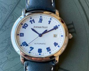 Audemars Piguet Millenary Automatic Date White Dial 15016ST