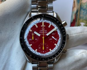 Omega Speedmaster Schumacher Red Dial Steel Automatic 3510.61