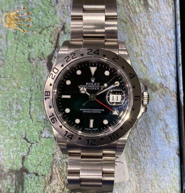 Rolex Explorer II Black Dial 16570 K Series Box & Papers
