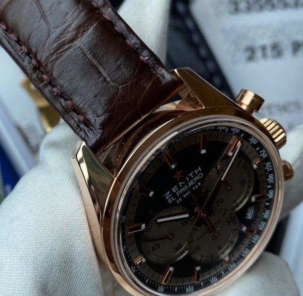 Zenith El Primero Automatic Chronograph 18K Rose Gold 18.2150.400/21.C709
