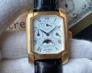 Glashütte Original Senator Karrée 18K Rose Gold Perpetual Calendar Moonphase