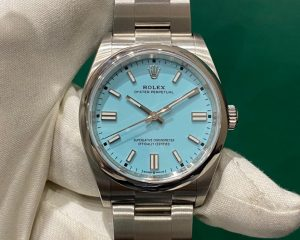 Rolex Oyster Perpetual Turquoise Blue Dial OP36 36mm 116000