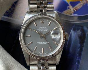 Rolex Datejust 16234 Grey Silver Stick Dial R Series