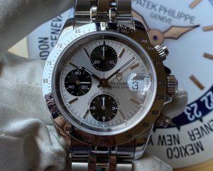 Tudor Big Block Chronograph Silver dial 79280P