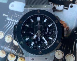 Hublot Big Bang Chronograph 44 MM Carbon Fiber Dial Ceramic Bezel 301.SM.1770.RX
