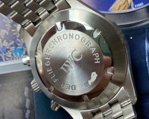 IWC Pilot Spitfire Automatic Chronograph 370618 Black Dial Bracelet