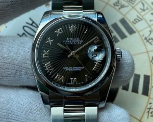 Rolex Oyster Perpetual Datejust 116200 Black Radial Dial 36mm Card & Services Paper