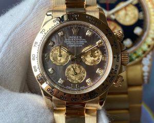 Rolex Daytona Black MOP Diamond Dial Yellow Gold 116508