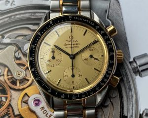 Omega Speedmaster SS/18K Yellow Gold Champagne Dial Automatic 3310.10