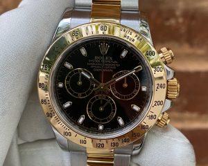 Rolex Daytona Tow Tone 18K/SS Black Dial 116523