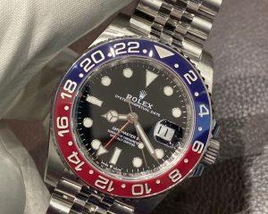 Rolex GMT-MASTER II Stainless Steel Red & Blue Pepsi Bezel 126710BLRO