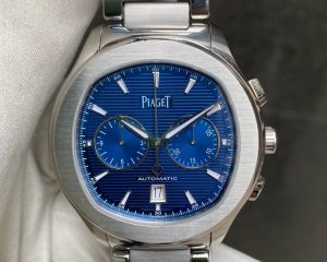 Piaget POLO S Blue Guilloche Dial Chronograph Date G0A41006