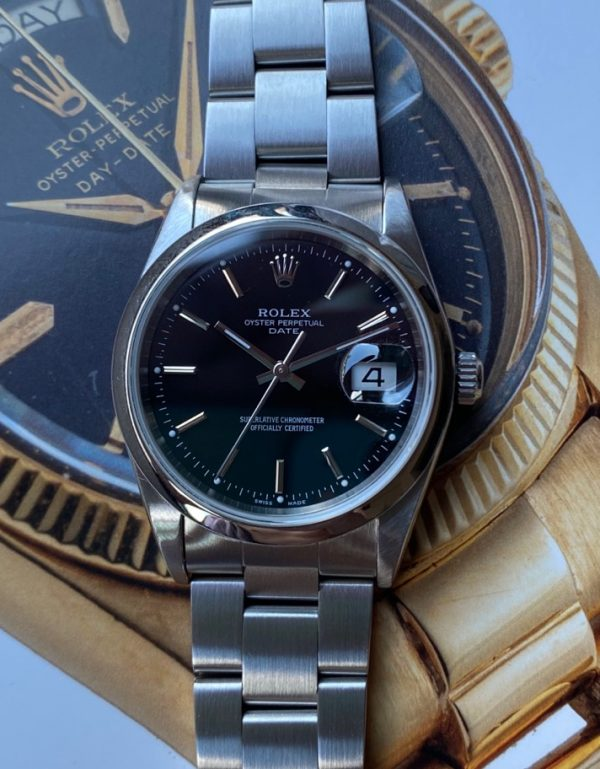 Rolex Oyster Perpetual Date 15200 Black Dial P Series Box & Papers