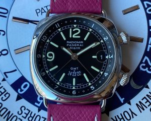 Panerai Radiomir GMT Alarm PAM00098 42MM Stainless Steel Box & Papers