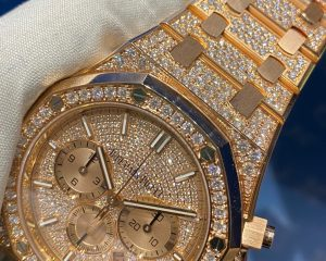 Royal Oak Chronograph 18K Rose Diamond Dial 41mm 26333OR.ZZ.1220OR.01