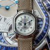 Daniel Roth Small-Size Chronograph Two Tone Silver / Grey Dial