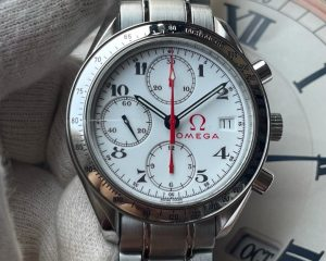 Omega Speedmaster Date Olympic Chronograph WhOmega Speedmaster Date Olympic Chronograph White Dial 3515.20ite Dial 3515.20