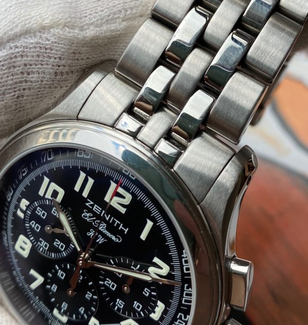 Zenith Class Sport El Primero Chronograph Black Dial Hand Wound 02.0500.420