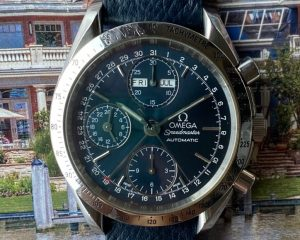 Omega Speedmaster Chronograph Day-Date 39mm Blue Dial 3523.80