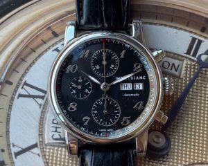 Montblanc Star Automatic Chronograph Black Guilloche Dial Men's Watch 106467Montblanc Star Automatic Chronograph Black Guilloche Dial Men's Watch 106467